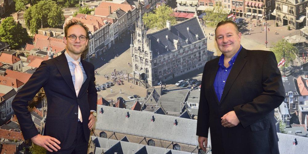 De Goudse als eerste hoofdsponsor Thierry van Vugt en Geert Bouwmeester foto Pim Mul