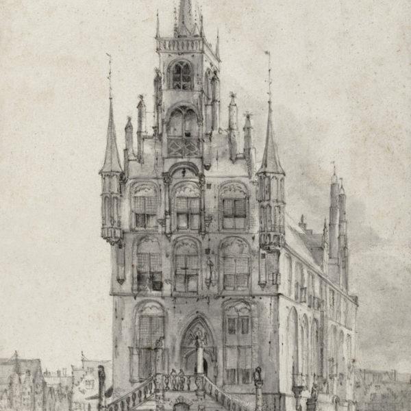Stadhuis van Gouda door Roelant Roghman 1646 Rijksmuseum Amsterdam RP T 1891 A 2417
